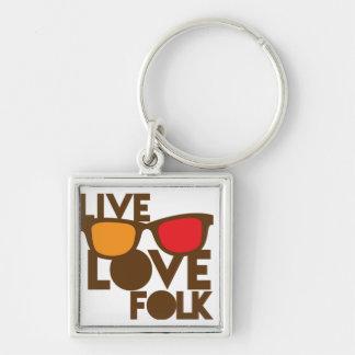 Live LOVE FOLK music Key Ring
