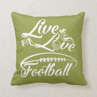 LIVE - LOVE - FOOTBALL CUSHION