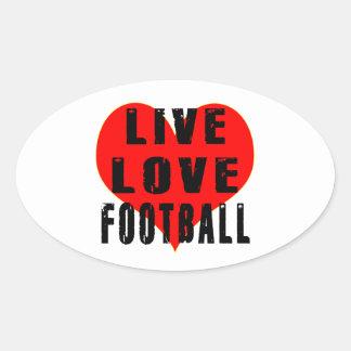 Live Love Football Oval Sticker
