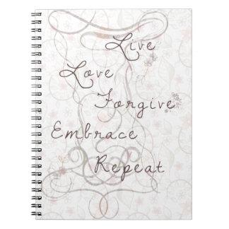 Live love forgive spiral notebook