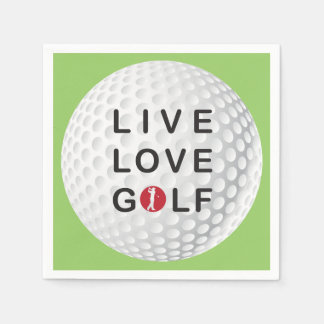 live, love golf napkins disposable napkin