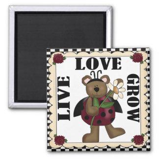 Live Love Grow ladybug Magnet