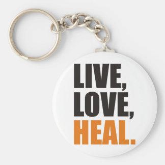 Live, Love, Heal Key Ring
