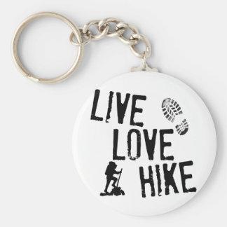 Live, Love, Hike Keychains
