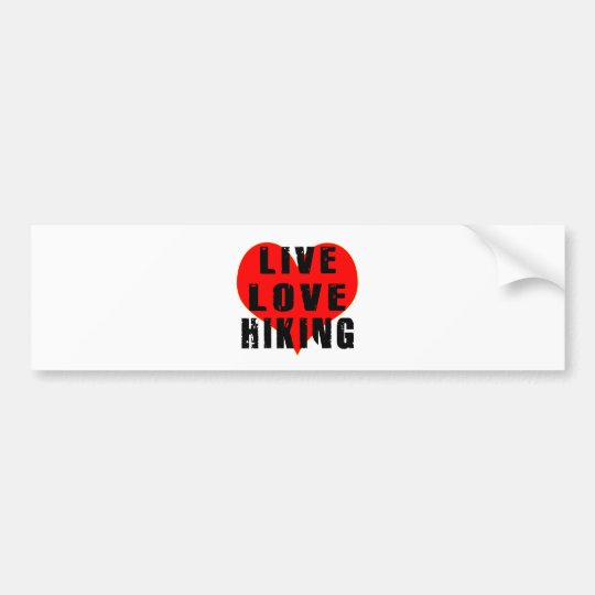 Live Love Hiking Bumper Sticker