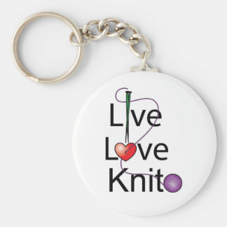 Live Love Knit Key Ring