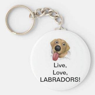 Live,Love,Labradors! Keychains