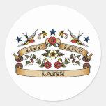 Live Love Latin Round Sticker