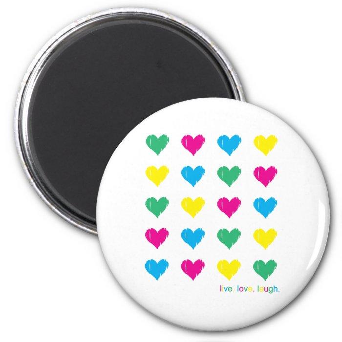 Live. Love. Laugh. 6 Cm Round Magnet