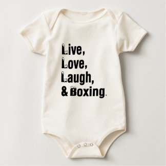 Live Love Laugh And Boxing Baby Bodysuit