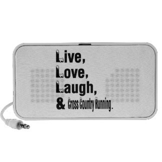 Live Love Laugh And Cross Country Running Portable Speaker