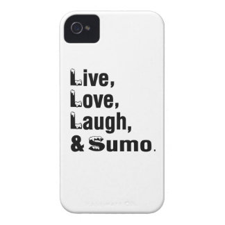 Live Love Laugh And Sumo Case-Mate iPhone 4 Cases