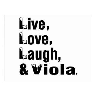 Live Love Laugh And Viola Postcard