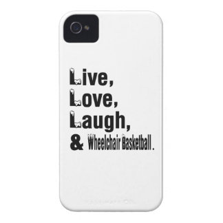 Live Love Laugh And Wheelchair Basketball iPhone 4 Case