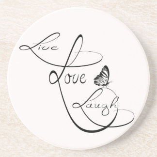 Live Love Laugh Beverage Coaster