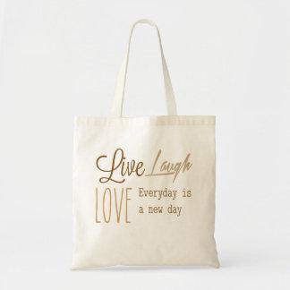 Live, Love, Laugh Budget Tote Bag