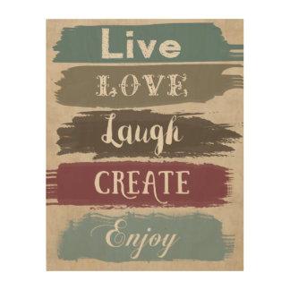 LIVE LOVE LAUGH CREATE ENJOY Typography Art
