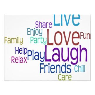 Live Love Laugh Custom Announcements