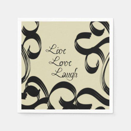 Live, Love, Laugh Disposable Napkins