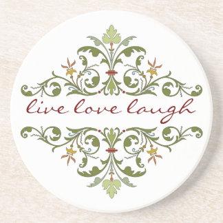 Live Love Laugh Floral Coaster