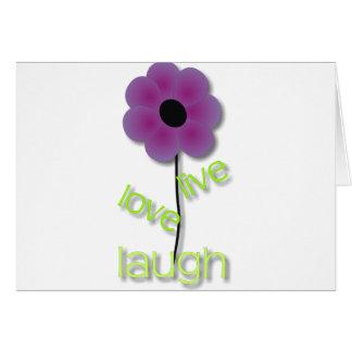 Live Love Laugh Greeting Card