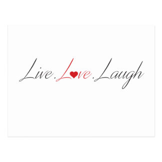 live love laugh items postcard