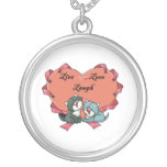 Live Love Laugh Kittys Round Pendant Necklace