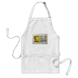 LIVE LOVE LAUGH LETTERING ARTISTRY APRONS