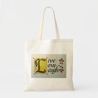 LIVE LOVE LAUGH LETTERING ARTISTRY TOTE BAGS