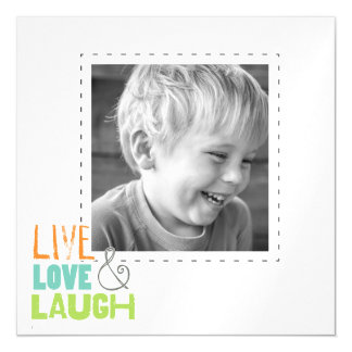 live love laugh photo thin magnets magnetic invitations
