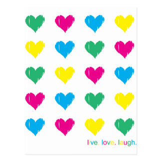 Live. Love. Laugh. Postcard