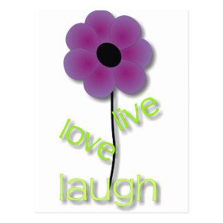 Live Love Laugh Postcard