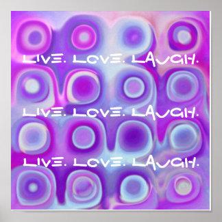 Live Love Laugh Poster - PURPLE & ORCHID