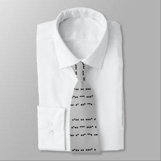 Live, Love, Laugh Quote in Morse Code Funny Tie