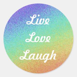 Live,Love,Laugh Round Sticker