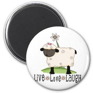 live-love-laugh-sheep magnet