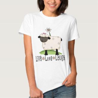 live-love-laugh-sheep t shirt