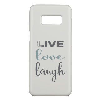 Live Love Laugh Typography Case-Mate Samsung Galaxy S8 Case
