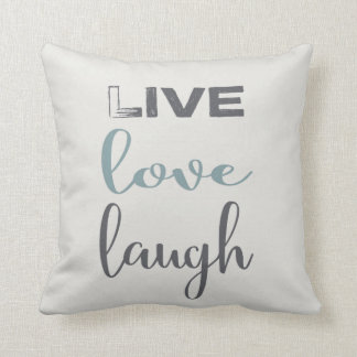 Live Love Laugh Typography | Throw Pillow
