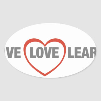 live, love, learn oval stickers