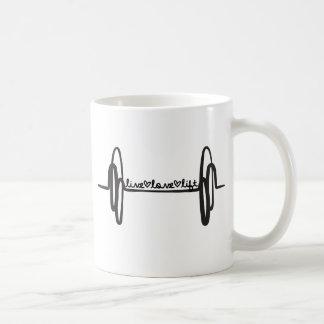 Live Love Lift Bar Black Basic White Mug