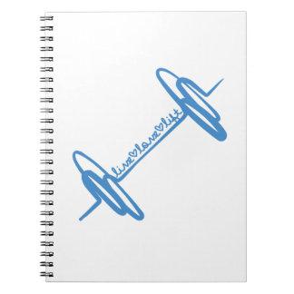 Live Love Lift Doodle Blue Note Books