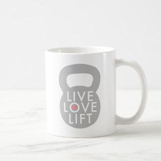 Live Love Lift Kettlebell Basic White Mug
