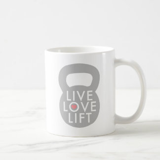 Live Love Lift Kettlebell Coffee Mug