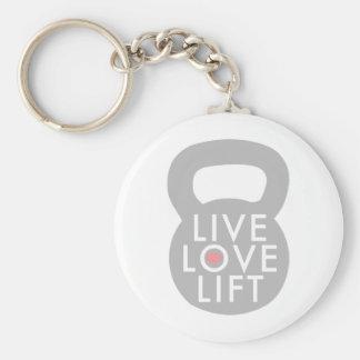 Live Love Lift Kettlebell Key Chain