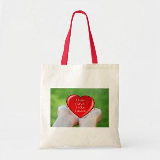 Live Love Like Share Peace Destiny Heart Hearts Canvas Bag
