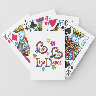 Live Love Line Dance Bicycle Playing Cards