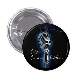 Live Love Listen - minibutton 3 Cm Round Badge