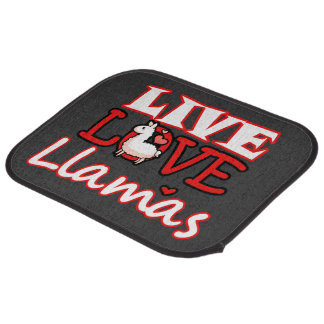 Live, Love, Llamas Car Mat