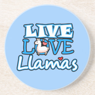 Live Love Llamas Coaster